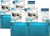 STARWAX Lavette Microfibre Vitres - Lot de 4
