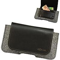 ORLINE–Funda de cinturón para el iPhone X funda piel Holster Fieltro Funda Case Cover con cierre magnético mano.