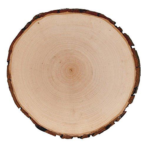 Rindenbrett Esche rund - Baumscheibe geschliffen Holzbrett, Brettgröße:ca. 25 cm Durchmesser