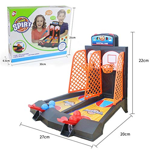 Zgifts Mini Tabletop Basketball-Spiel Portable Desktop Sports Shooting Toy Double Hoop-Office Bar Drinking Party Game Set für Indoor Outdoor Outdoor