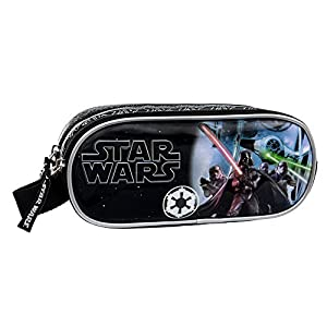 Star Wars Estuche Doble Compartimento, Color Negro, 1.45 litros