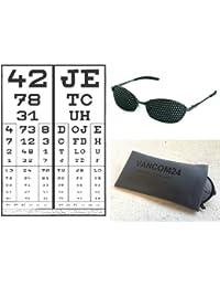 Metall-Rasterbrille 420-LAG - ganzflächiges Raster - inkl. Zubehör