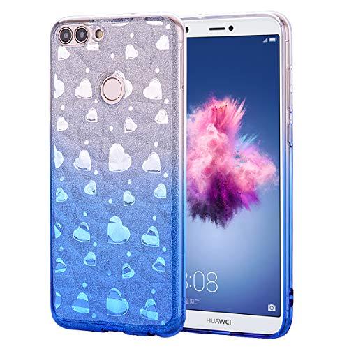 Huphant Kompatibel mit Huawei Honor 7S Hülle, Transparent Silikon Handyhülle für Huawei Honor 7S Case Stoßstange Crystal Clear Anti-gelb Slim Ultradünn Slim Fit Silikon Case -Blau