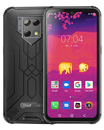 Blackview BV9800 Pro Outdoor Smartphone mit FLIR Wärmebildkamera - 16 cm (6.3 Zoll) FHD Display 48MP-Triple-Kamera, 128GB/6GB Helio P70 Dual-SIM 6580mAh Android 9.0 Handy Ohne Vertrag - Global Version