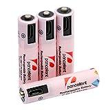 Mirco USB AAA pilas Ni-MH (precargadas (4piezas) pancellent batería recargable