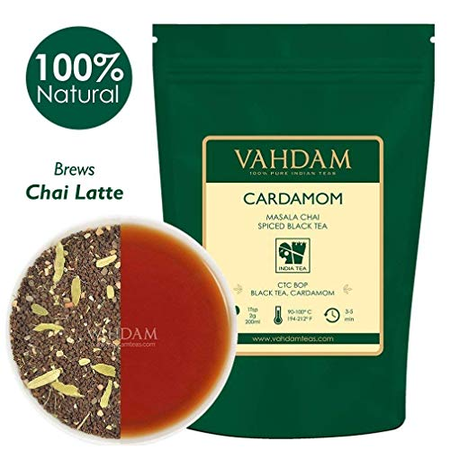 VAHDAM, Cardamom Chai Tea Loose Leaf, (100 Cups) 200g   100% NATURAL CARDAMOM - India's Traditional Cardamom Tea   Spiced Masala Chai Tea   Brew as Hot Tea, Iced Tea or Chai Tea Latte
