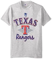 MLB Texas Rangers Men's 58T Tee, Steel Heather, Medium