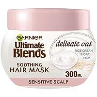 Mascarilla de cabello Garnier Ultimate Blends de leche de avena para cuero cabelludo sensible, 300