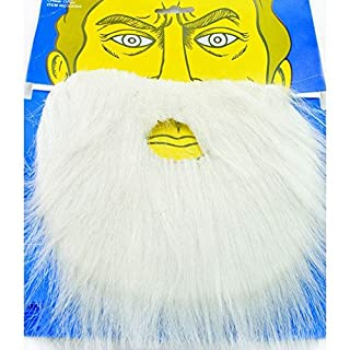 Halloween Scary Fancy Dress Party Accessories (Fake Beard White)