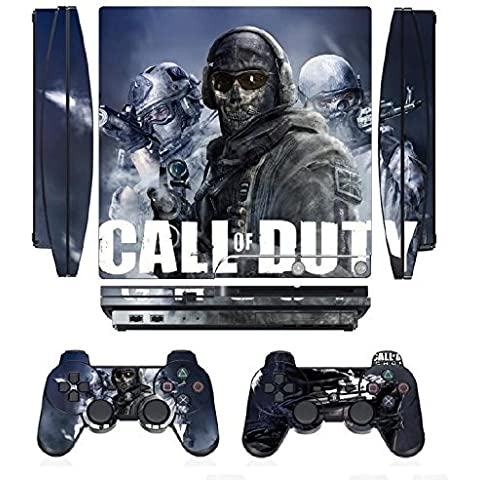 COD Ghosts 268 Skin Sticker Cover Decal Protector for PS3 SLIM and 2 controller skins by Cool Colour