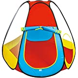 Toys Bhoomi Kids Teepee Play Tent with 50pcs 6CM Balls - 100% Safe Polyester Fabric