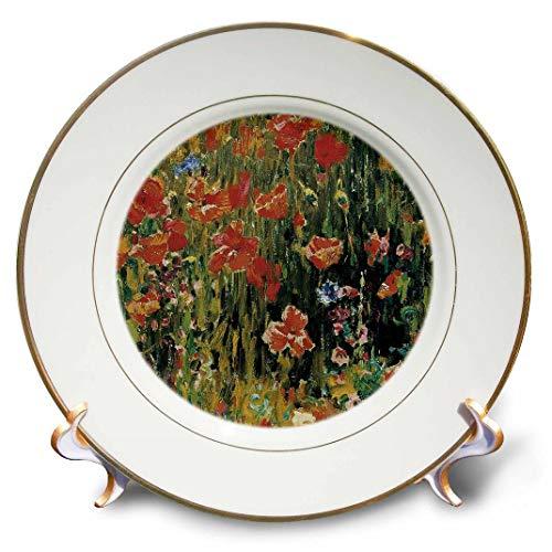 3dRose CP 126528_ 1Mohn von Robert Vonnoh Impressionismus Flower Garden Porzellan Teller, 20,3cm
