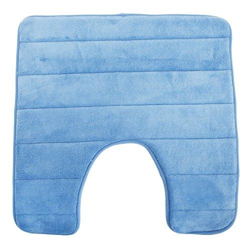 Tapis de contour de toilette à mémoire de forme (50cm x 50cm) (Bleu)