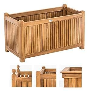 clp blumenkasten aus teakholz i blumenk bel f r den garten oder den balkon i universal. Black Bedroom Furniture Sets. Home Design Ideas