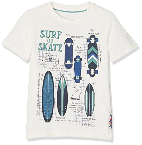 Fat Face SS Surf Skate Tee, Maglietta Bambino, Beige (Ecru),