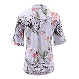 Beikoard Camisas Abotonadas para Mujer Imprimir Camiseta Mujer Camisa Manga Chaleco Mujer Vaquero Grande