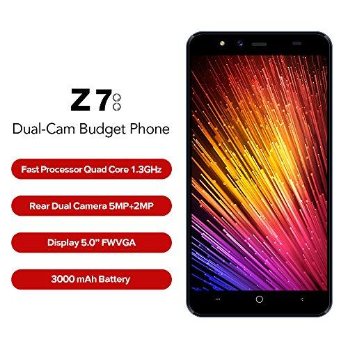Leagoo Z7 - 5 0  4G FDD-LTE Smartphone Libres  Android 7 0 Quad Core 1GB 8GB  Smart Wake  C  maras 5MP 2MP con Delantera 2MP  Soporte VoLte  Dual SIM