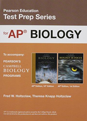 Preparing for the Biology AP Exam (School Edition) (Pearson Education Test Prep)
