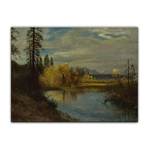 Bild ohne Rahmen - Albert Bierstadt Outlet at Lake Tahoe 80x60cm ca. A1 - Kunstdruck Poster Alte Meister