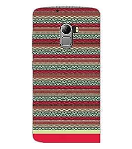PrintDhaba Tribal Pattern D-1716 Back Case Cover for LENOVO VIBE K4 NOTE (Multi-Coloured)