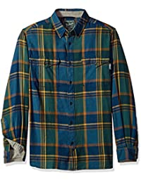 Woolrich Men's Stone Rapids Organic Cotton Yarn-Dye Flannel Modern Fit