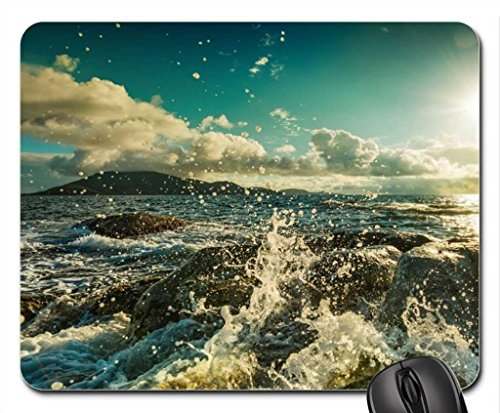 ocean-spray-at-a-rocky-shore-mouse-pad-mousepad-beaches-mouse-pad