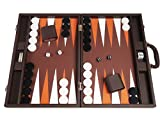 48 x 64 cm Premium Backgammon Set - Dunkelbraun