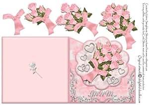 Per mamma, motivo: Bouquet di Rose con embelishments di Valerie Swinglehurst