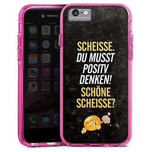 Apple iPhone X Bumper Hülle Bumper Case Glitzer Hülle Funny Lustig Sayings Bumper Case transparent pink