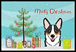 Carolines Treasures BB1627JMAT Christmas Tree and Tricolor Corgi Indoor or Outdoor Mat, 24 x 36, Multicolor