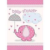 Einladungskarten Umbrellaphants Elefant Rosa Mit Umschlag 8 Stück