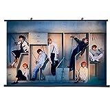 Yovvin BTS Rollbild Kakemono aus Stoff Poster, Kpop Bangtan Boys [Love Yourself 結 Answer] Hanging Paintings Wall Scroll, A.R.M.Y(L - 60 x 40 cm Style 01)