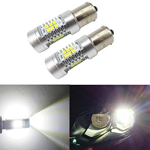 WLJH 2-Pack 1156PY BAU15s 800 Lumens 6000 K Super Lumineux Blanc 7507 PY21W RY10W LED Ampoules Lampes pour le Signal de Signal DRL Frein Feu Lumières Lampes