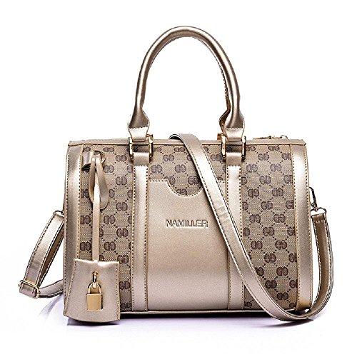 L'immagine nuova borsa signora europea e americana della moda di stampa sacchetto di spalla casuale di alta qualità Messenger bag , gold