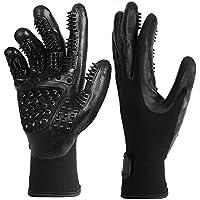 PushingBest Fellpflege-Handschuh,2Stk Profi Haustier Handschuh Bürste Massagehandschuh für Fellpflege und Entfernung Loser Tierhaare,Haarentferner von Hunde Katzen Pferde
