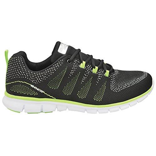 Gola Tempe, Scarpe Sportive Indoor Uomo Black/Lime/White
