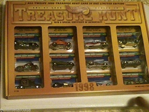 Hot Wheels - Treasure Hunt 1998 - Limited Edition (1 of Only 5000) - Series IV Anniversary Set. Includes All 12 Hot Wheels Treasure Hunt Fahrzeuge FROM 1998 in a special Design Hot Wheels Treasure Hunt 1998 Graphical Display, Case/Box -