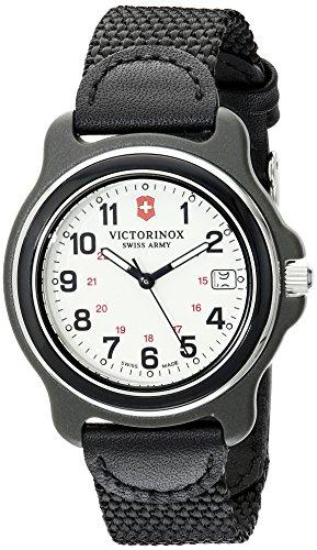 Victorinox Herren-Armbanduhr 39mm Armband Nylon Schwarz Gehäuse Plastik Schweizer Quarz Analog 249089