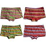 4-8-6-12er Pack Mädchen Unterhose Pantys Kinder Unterwäsche Set Streifen aus Baumwolle Gr.92-146