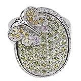 Pompöös Harald Glöckler Ring für Frauen Silber 925 rhodiniert Zirkonia Multicolor Schmetterling Geschenk Gr. 54