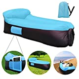 Outside Gears Inflatable Loungers With Integrated Pillow Design. New Waterproof Lounger Design With Side Pockets & Bottle Opener, The Best Air Couch and Air Sofa. Includes Storage Bag Perfect for Travelling, Pool, Beach Party and Camping Equipment.