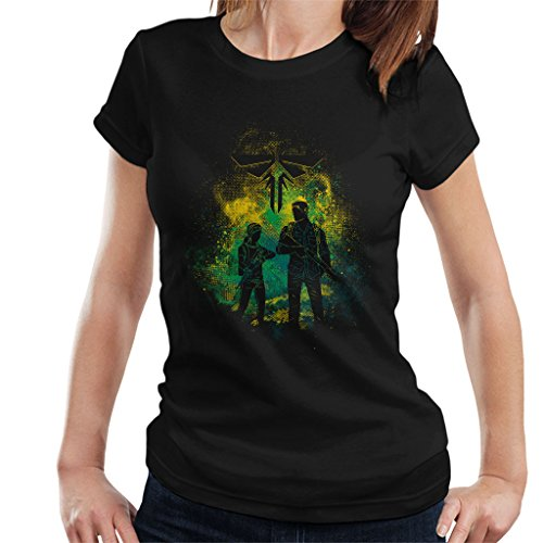 The Last Of Us Joel And Ellie Outline Women's T-Shirt (Last Clicker Of Us The)