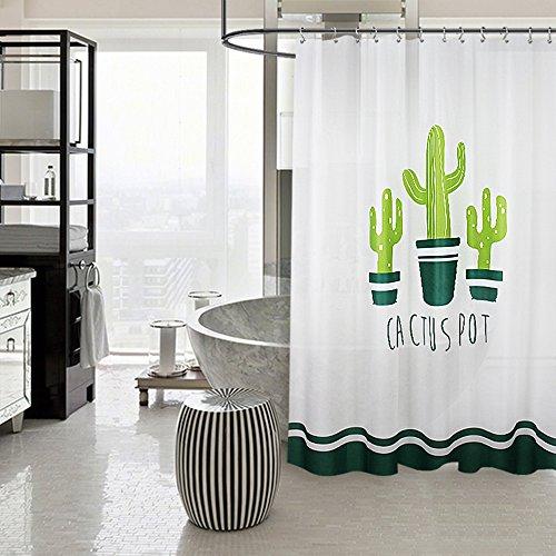 FuXing PEVA Tenda da Doccia Impermeabile e Muffa Resistente Cactus Stampato in Digitale Disegno Tenda da BagnoAccessori da Bagno 180 cm x180 cm