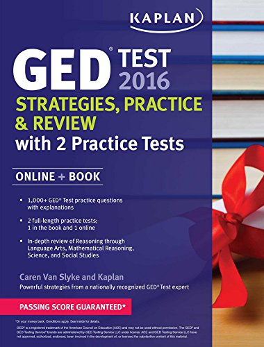 Kaplan GED Test 2016 Strategies, Practice, and Review: Online + Book