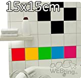 100 Stück 15x15cm Fliesenaufkleber Fliesendekor Kacheldekor Fliesen Aufkleber Sticker Küche