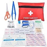 Mini kit di primo soccorso da viaggio Oziral sacchetto di emergenza medico con esterno impermeabile, Kit di primo soccorso da tenere sempre in auto