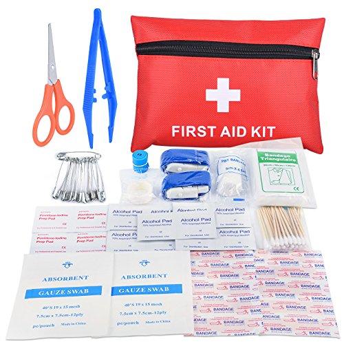 Mini-Erste-Hilfe-Kit für Reisen Die Oziral wasserdichte Outdoor-Notfall-Erste-Hilfe-Ausrüstung enthält Bandagen eine Schere und Binden Die medizinische Versorgung auf Reisen, Zuhause, Camping, Abenteuer oder im Freien wird mit dem Kit abgedeckt