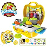 Vikas Gift Gallery Ultimate Kids Chef Bring Along Kitchen Cooking Play Toys Suitcase Set