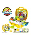 #6: Vikas gift gallery Ultimate Kids Chef Bring Along Kitchen Cooking Play Toys Suitcase Set