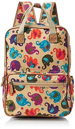 Swanky Swans Damen Noni Elephant Rucksackhandtasche, 11x39x30 cm Braun (Brown)